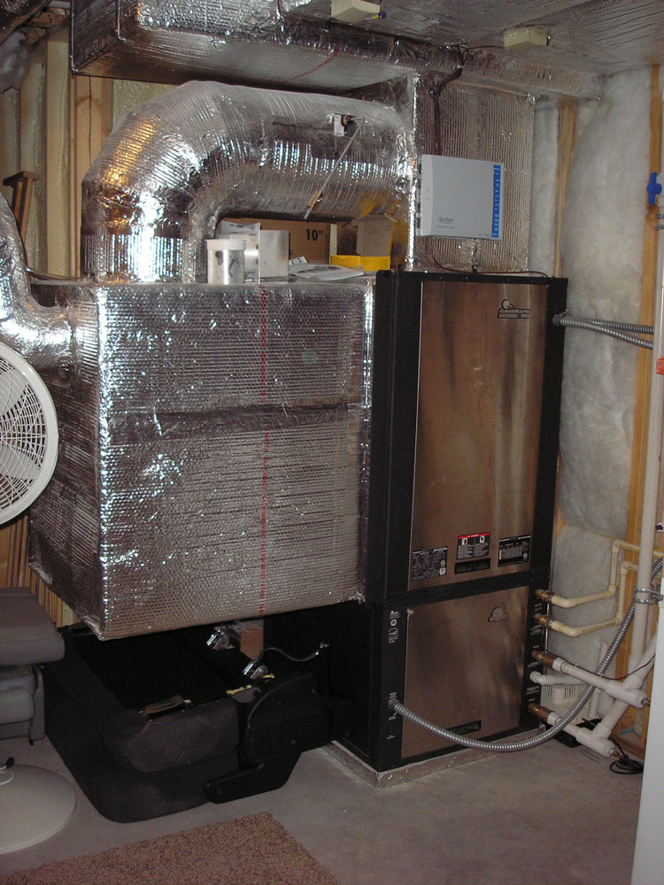 Residential HVAC ductwork installation
